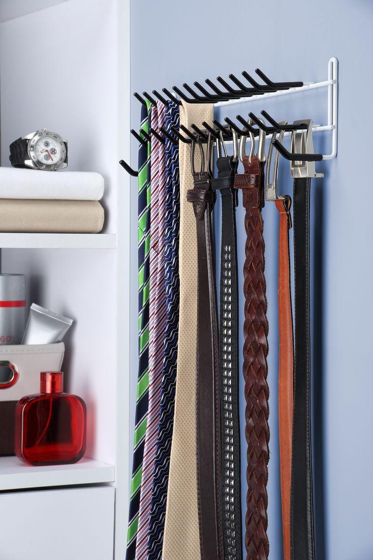 ¿Qué corbata y cinto te pondrás hoy? Tener tus opciones organizadas ayuda a tener la mejor elección