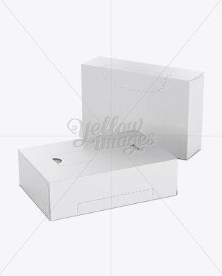 Napkin Boxes Mockup - 2 Boxes