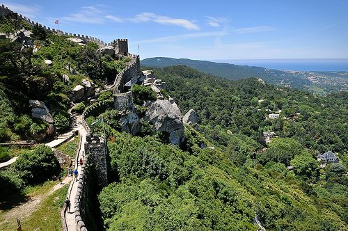 The Moorish castle (9th century) in Sintra.