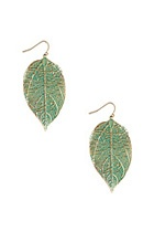 painted leaf earrings only $3.80