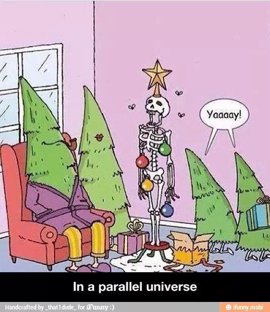 pinos navideños/universo paralelo