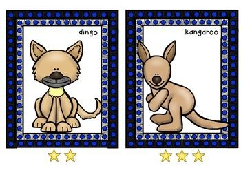 Syllable work for non-readers - Australian Animals pack * 14 Australian Animal Flashcards (in colour)* Star prompt for each syllable (student to say each word in syllables ie ko-a-la)* Print off and laminate to make flashcards* Designed for Prep/non readers learning syllables.