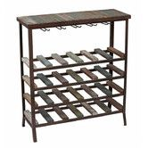 Found it at Wayfair - 24 Bottle Iron and Wood Wine Rack
