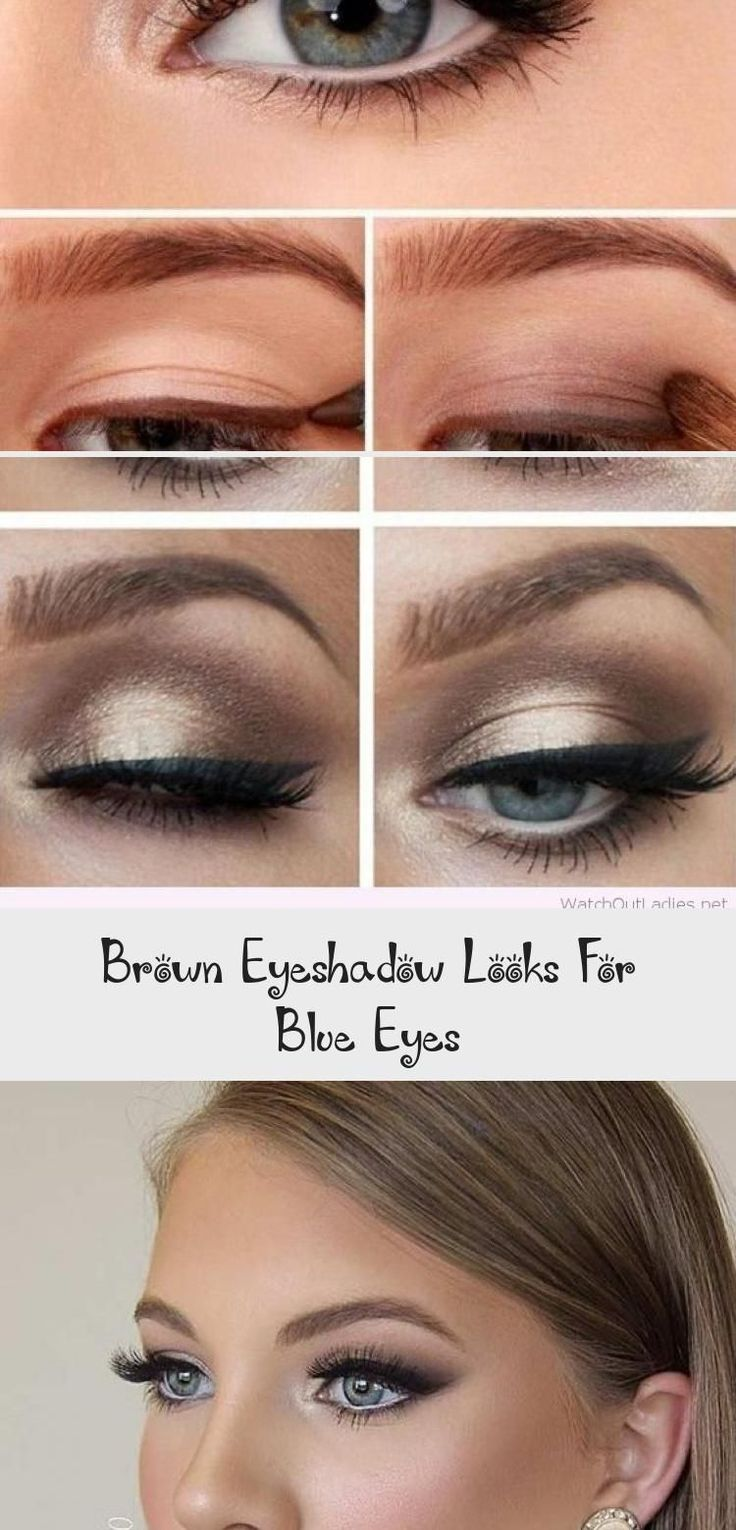 what eyeshadow suits blue eyes and brown hair