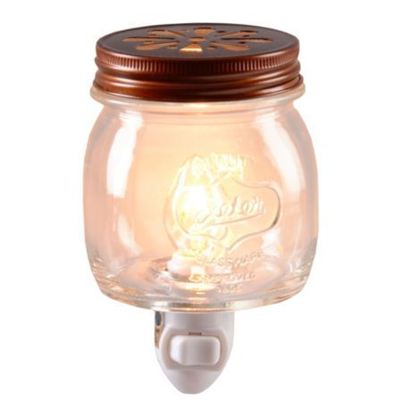 mason jar nightlight. SO cute! got one last night at kirklands. totally could make this but i was too lazy lol