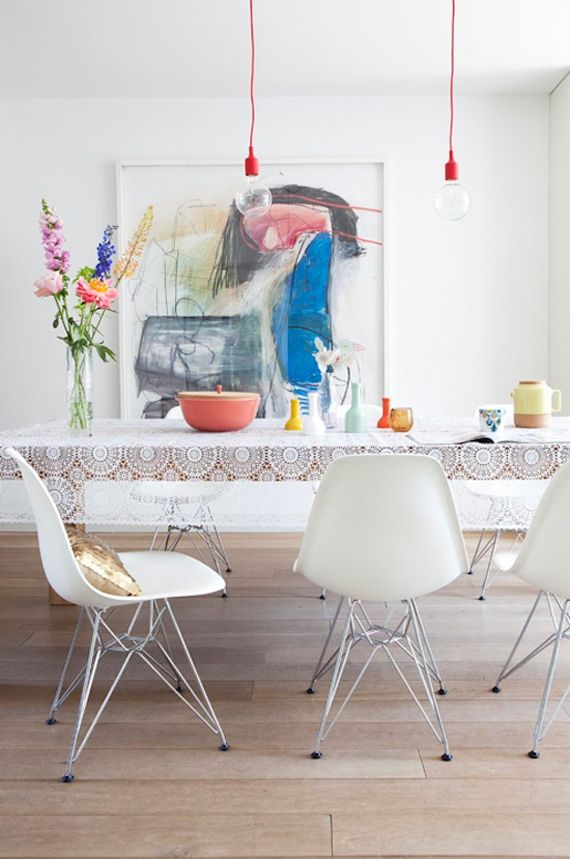 Statement Art to frame your dining style.