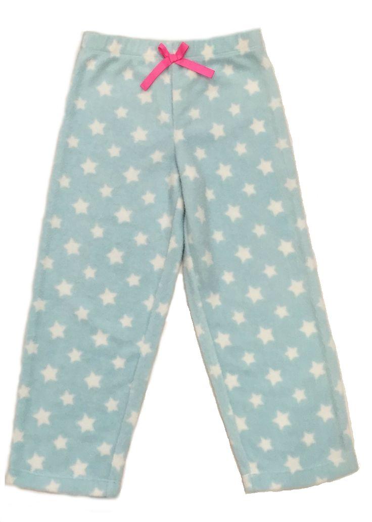 Girl's Twinkling Stars Light Blue Polar Fleece Pyjama