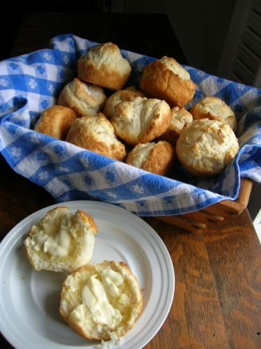"""Quick easy rolls. Only 4 ingredients. No yeast needed!  """"You can't get a recipe any easier than this one!  These little rolls are so quick to make and they are good, too.    2 cups self-rising flour  4 tablespoons mayonnaise  1 cup milk  1 teaspoon sugar     Mix all ingredients in a mixing bowl about two minutes with a spoon.  Spray muffin tins.  Fill tins 2/3 full; bake in preheated 450 degree oven until golden brown or about 10 to 12 minutes.  Makes about 12 muffins.  Delicious!  Enjoy"""""""