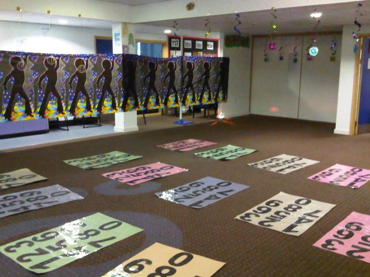 dance and math.  interesting idea.  would have to make the mats but it seems engaging enough that it might be worth it.  good for review.