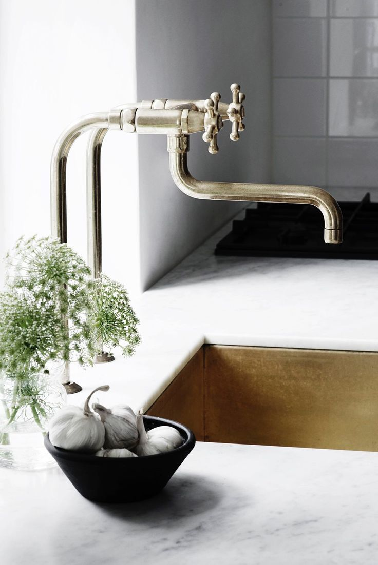 best  kitchen sink faucets ideas on pinterest  apron sink  - elegant kitchen faucet with copper sink and marble counter