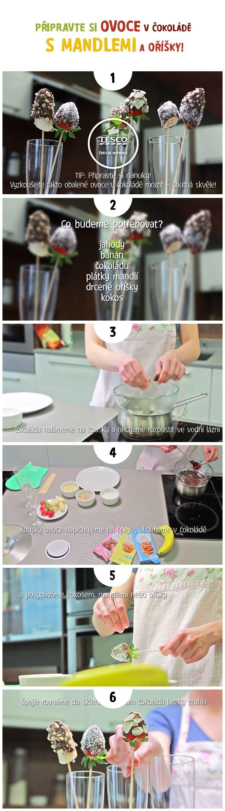 Připravte si ovoce v čokoládě s mandlemi a oříšky podle našeho videonávodu!