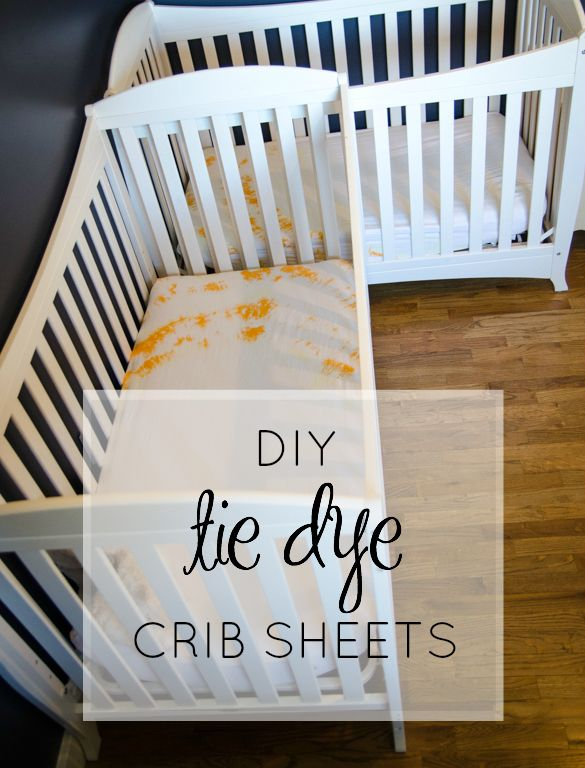 Diy Tie Dye Crib Sheets Baby Corbin Pinterest And