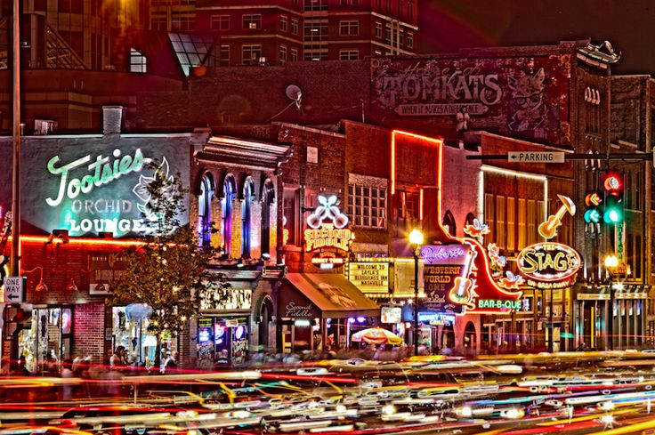 Finishing off the night out on Honky Tonk Row in Downtown Nashville