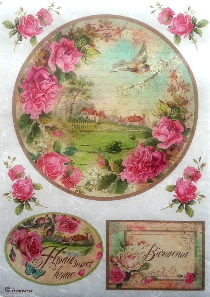 Rice Decoupage Paper / Decoupage Sheets / Scrapbooking / Stamperia /SWEET HOME | eBay