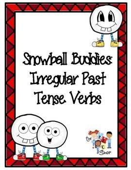 On the 9th day of FREEBIES, the TLC Shop gave to me...Snowball Buddies: Irregular Past Tense VerbsThere are 36 game cards included in this pack.  Have students take turns picking a card, reading the verb, and using the past tense form of the verb in a complete sentence.