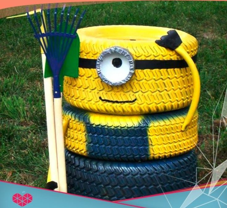 how to use old tires in play area