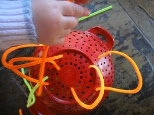 Pipe Cleaner Activity for Toddlers and Preschoolers from healthymamainfo.com