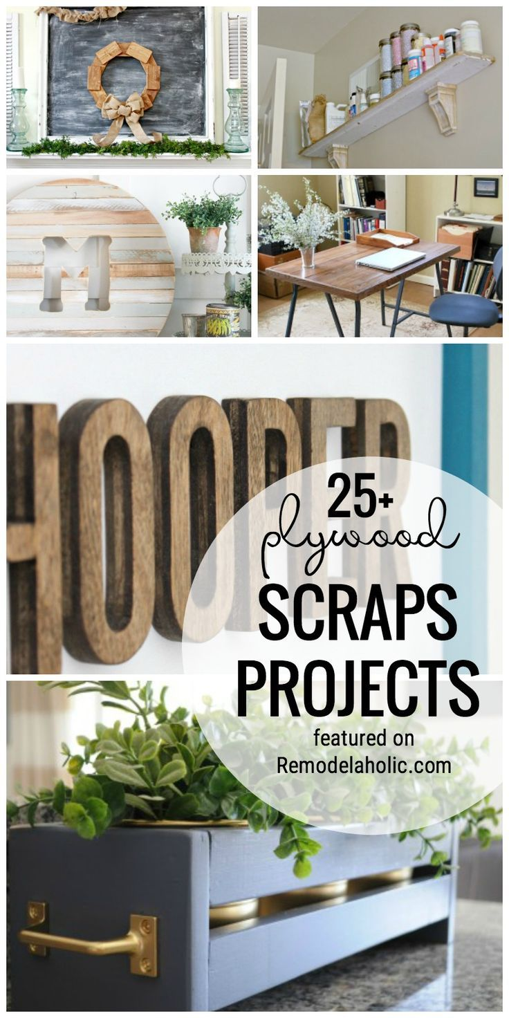 Use Up Your Plywood Scrap Pile With One Of These 25+ Plywood Scraps Projects Featured On http://Remodelaholic.com