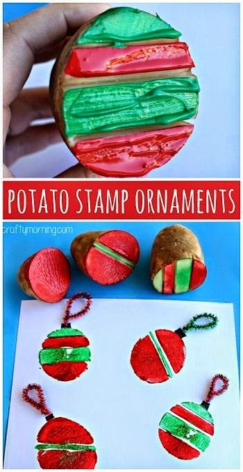 Helping Kids Grow Up: Potato Stamping Craft
