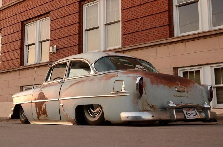 scrapin' rust- My dream car 54' Chevy!