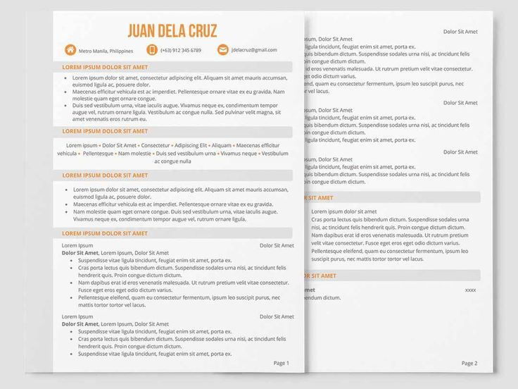 Creative Resume  Cv Vs Resume
