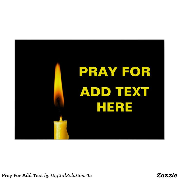 Pray For Add Text Poster