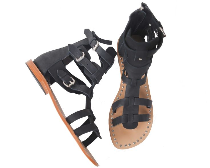Gladiator Shoes, in Black. @ uma and leopold stores. http://umaandleopold.com/