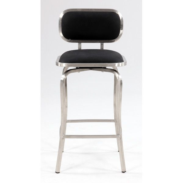"Chintaly Modern 25.98"" Bar Stool with Cushion & Reviews 