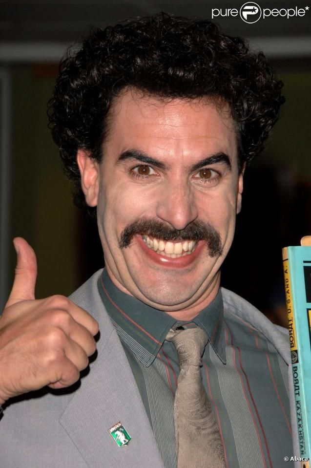 Sacha Baron Cohen's Borat could not get any funnier.