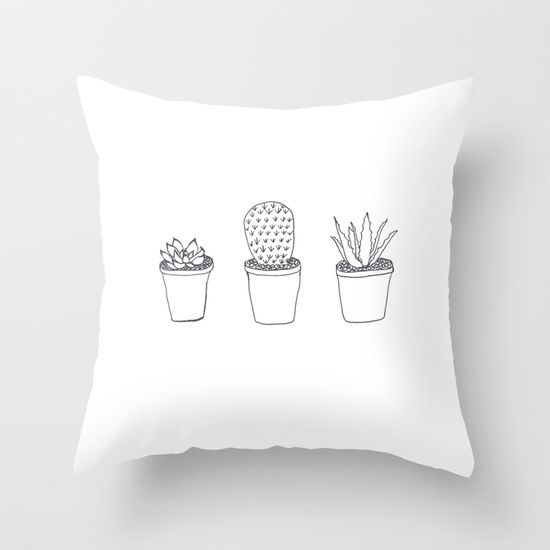 Buy Succulents  by Charlotte  as a high quality Throw Pillow. Worldwide shipping available at Society6.com. Just one of millions of products available.