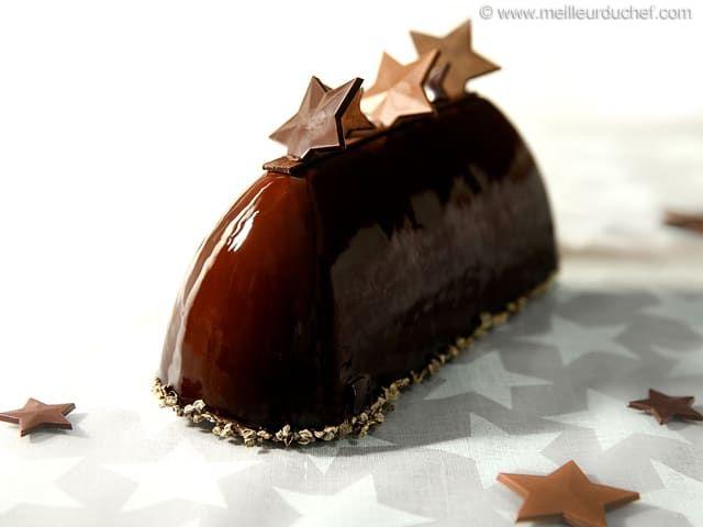 Buche de noel mousse aux 3 chocolats