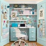 Closet Turned Office from Country Living