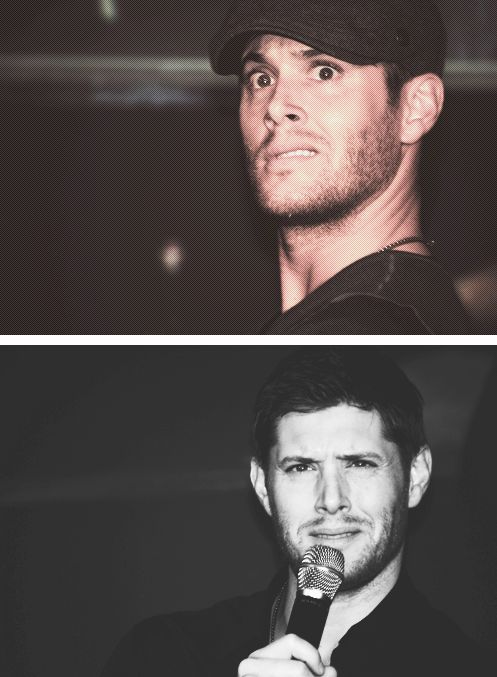 Jensen Ackles...his facial expressions are priceless.