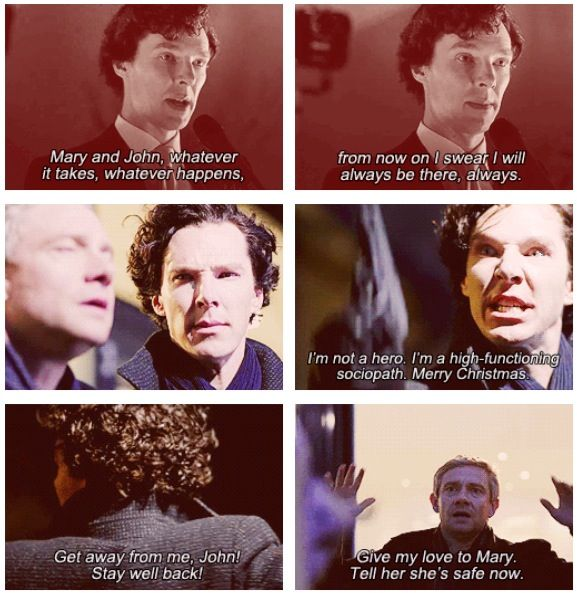 John. Sherlock. His last vow. The range of expressions here... Chills.