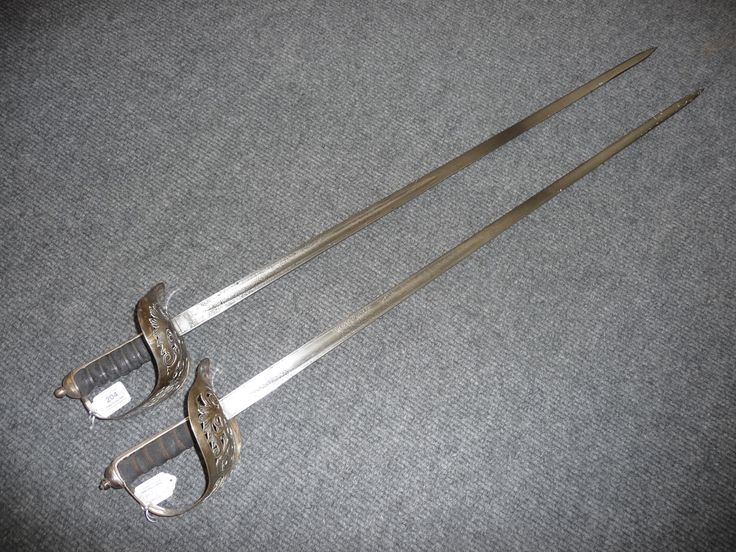 Do you know the first uniform pattern sword was the British Infantry Officer's Sword, which was usually a 32.5 inch (825 mm) blade and had been introduced in the late 1780's. http://bit.ly/1GKGEI1