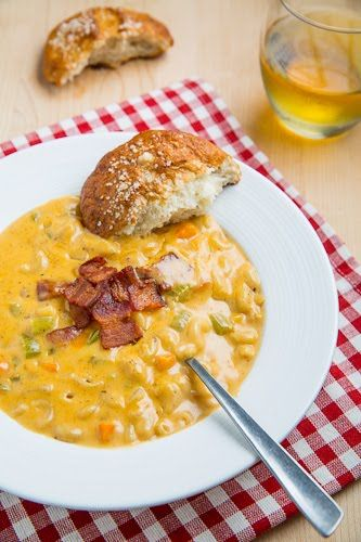 Beer Mac n Cheese Soup - beer AND mac cheese? i'm sold!!