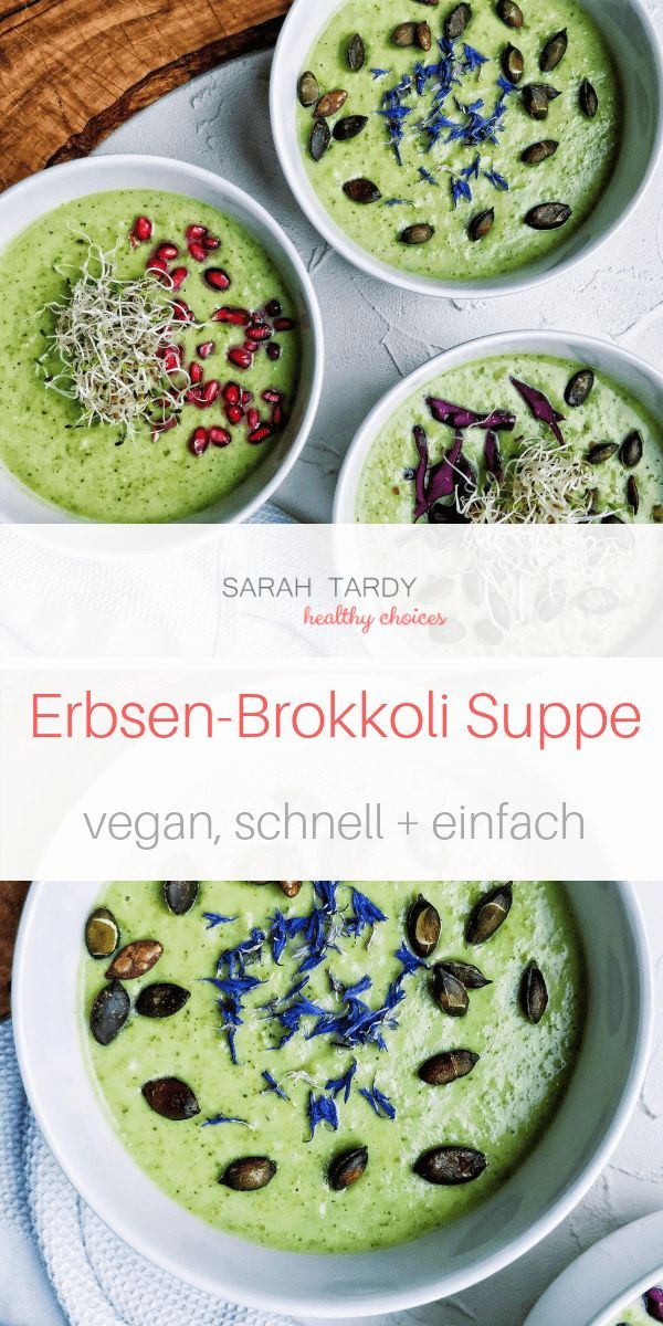 Eine einfache gesunde und cremige Suppe, die in weniger als 30 Minuten auf den Tisch kommt …   – Suppen | vegetarisch & vegan