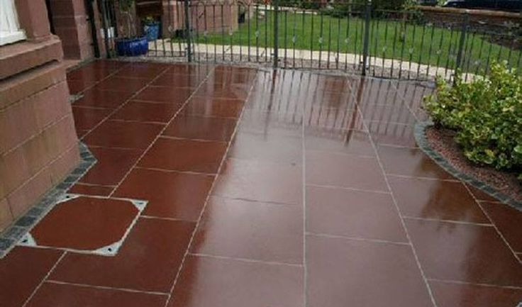 Stonemart, the leading natural stone exporter in india supplies polished mandana red sandstone paving for interior and exterior home decor.