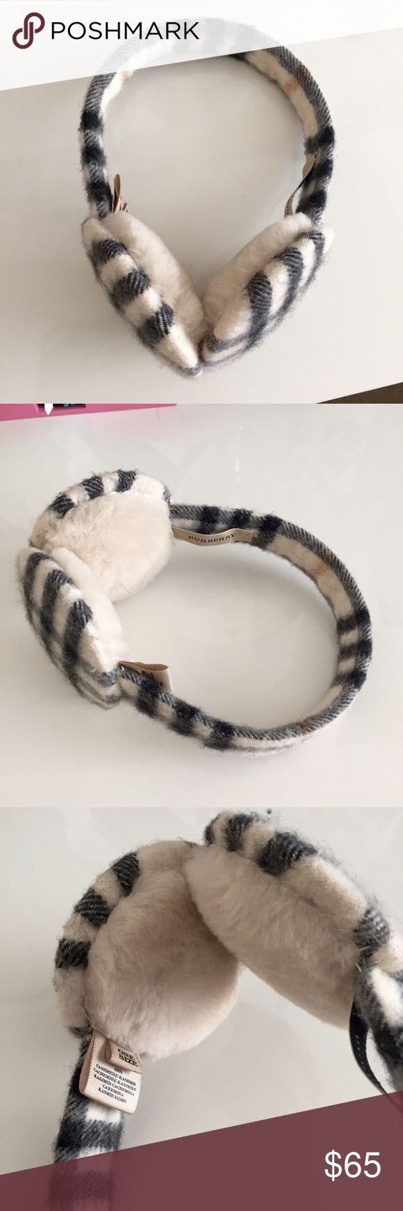 Burberry Cashmere Ear Muffs 100% Authentic Burberry Cashmere Ear Muffs. EUC-used once. Very warm and chic. Price is firm. Burberry Accessories Gloves & Mittens