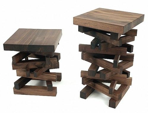 Love these stools!  This is a good idea for how to make some truly interesting breakfast bar stools.