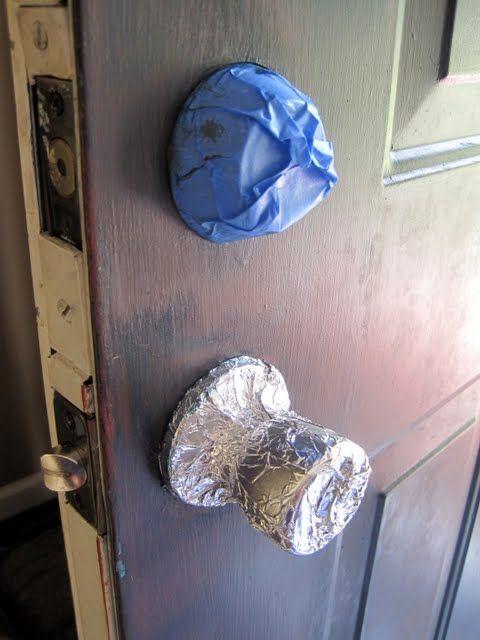 Tip for painting your front door :: De-glosser equals no sanding