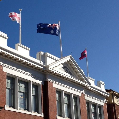 Flags raised in Fremantle's West End