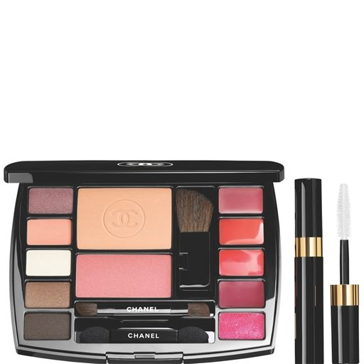 CHANEL - TRAVEL MAKEUP PALETTE MAKEUP ESSENTIALS WITH TRAVEL MASCARA More about  #Chanel on http://www.chanel.com