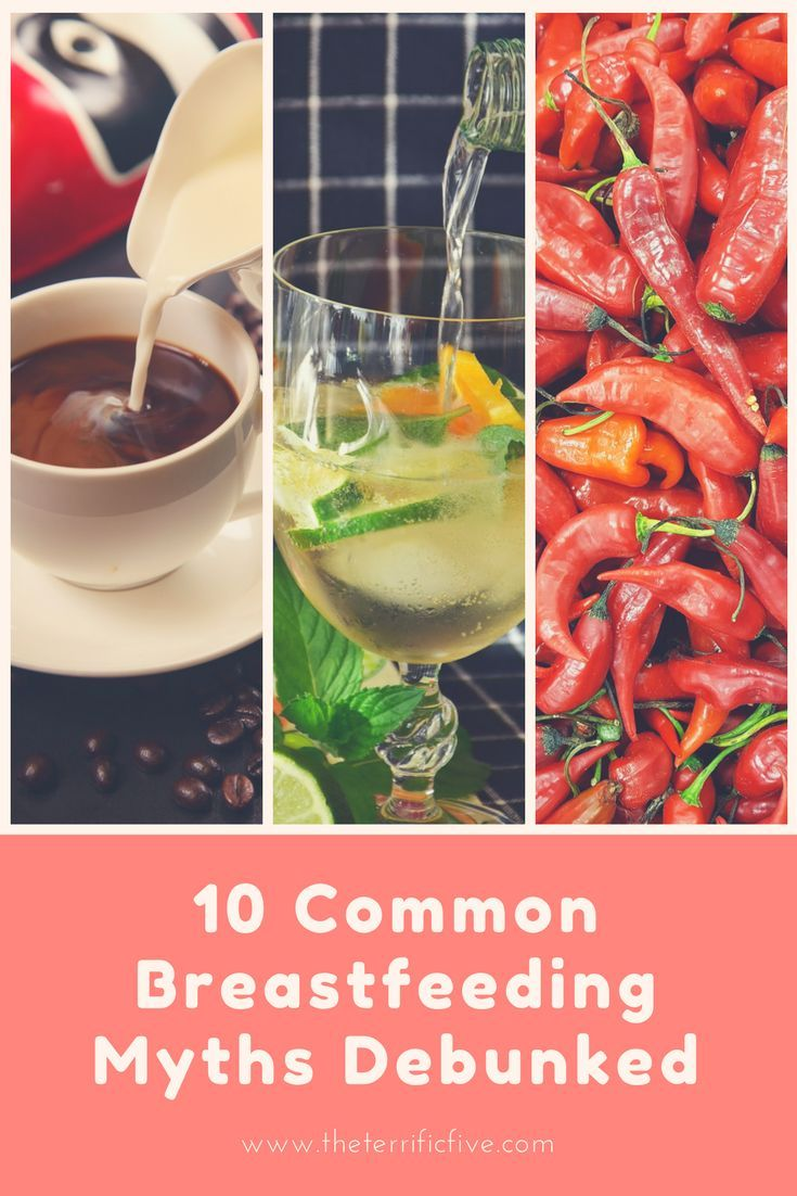 10 Common Breastfeeding Myths Debunked | Breastfeeding Myths | Breastfeeding Problems | Coffee While Breastfeeding | Alcohol While Breastfeeding | Spicy Food While Breastfeeding | www.theterrificfive.com