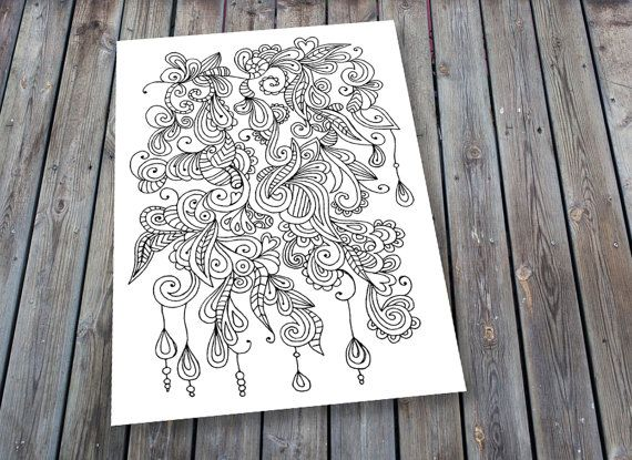 Adult Colouring Page Doodle Printable Colouring Pages Dangle