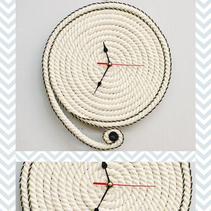 enrHedando: Diy Reloj de Pared con Cuerda