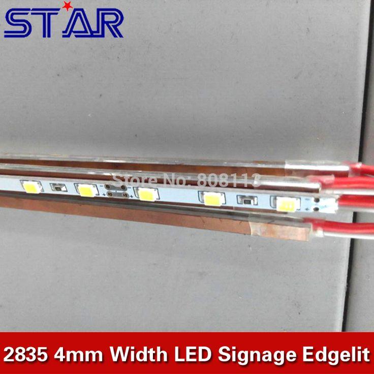 4mm SMD2835 0.1W/0.2W 72leds/m 12V 4mm Slim LED Rigid Strip Bar Lights for Sidelit Cystal Light Box Adverting Billboad Display