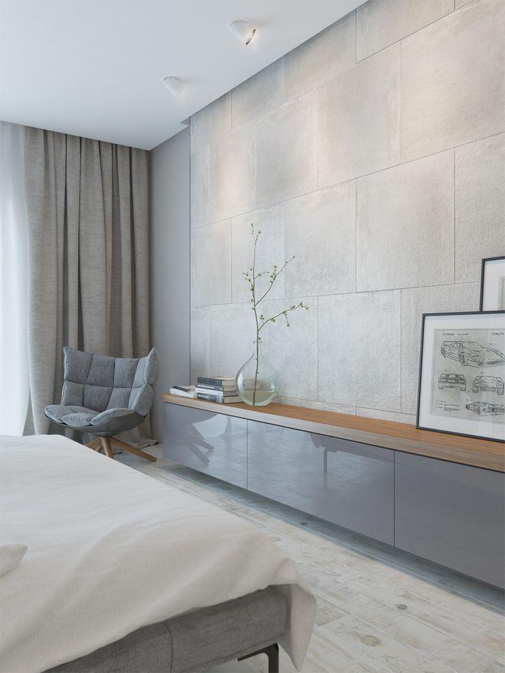 Grey interior, bedroom, grey color in interior, master bedroom