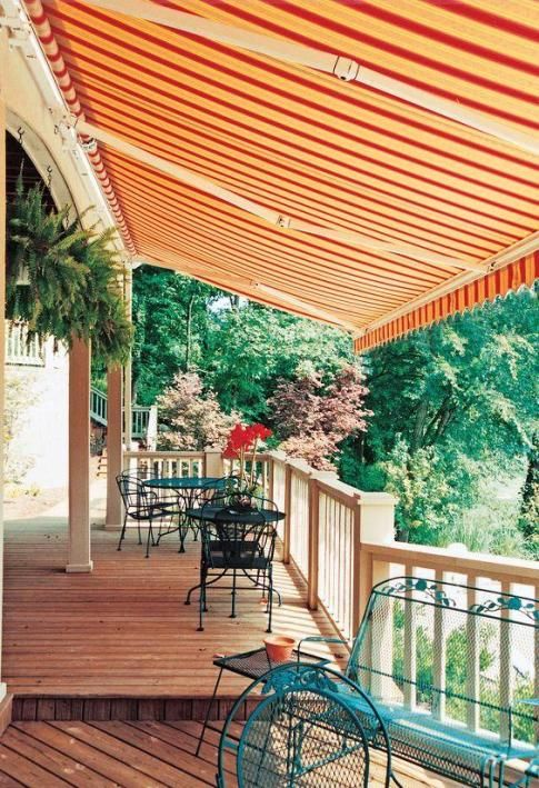 Patio and Deck Retractable Awnings   Retractable Shades   Customer Installations