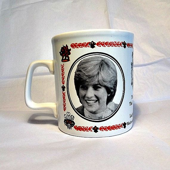 Commemorative Mug From The 1981 Royal Wedding Of Lady Diana Spencer And Prince Wales